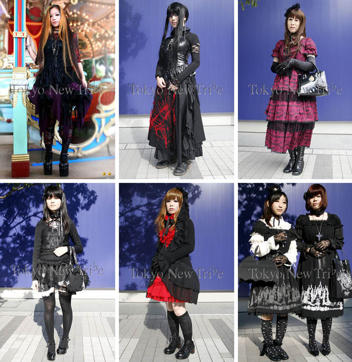 Gothic Lolita clothes, dark elegant Japanese fashion. EGL Mana Sama lolita fashion, moi meme moitie. Marui Fashion Expo.