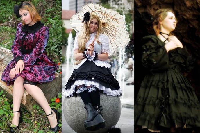 Los Angeles Lolita, EGL Community. Classic Victorian jacket and dress, high heels on Gothic Lolita. Emo skirt.