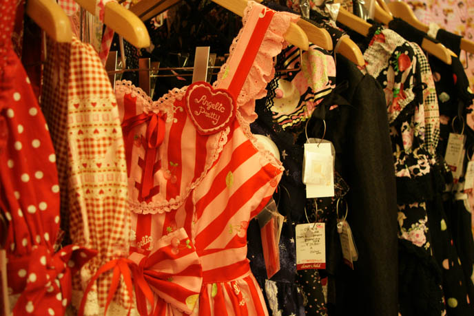 Angelic Pretty dresses, cute sweet Lolita one pieces, jumpers, JSK dresses. Metamorphose temps de fille, Baby the Stars Shine Bright Tokyo lolita shopping in Japan.