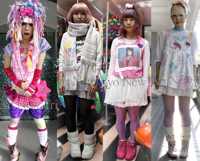 Fairy Kei fashion, Japanese streetwear. Spank and 6% Dokidoki Harajuku stores, crazy Japanese pastel clothing.