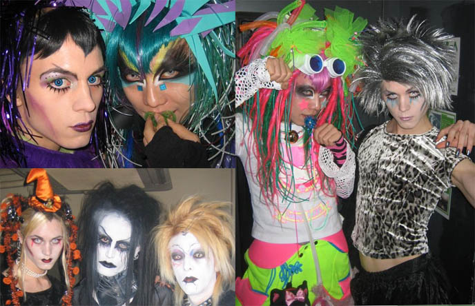 DJ Sisen, Candy Spooky Theater. Tokyo wild cyber fashion, cybergoth rave clothing.