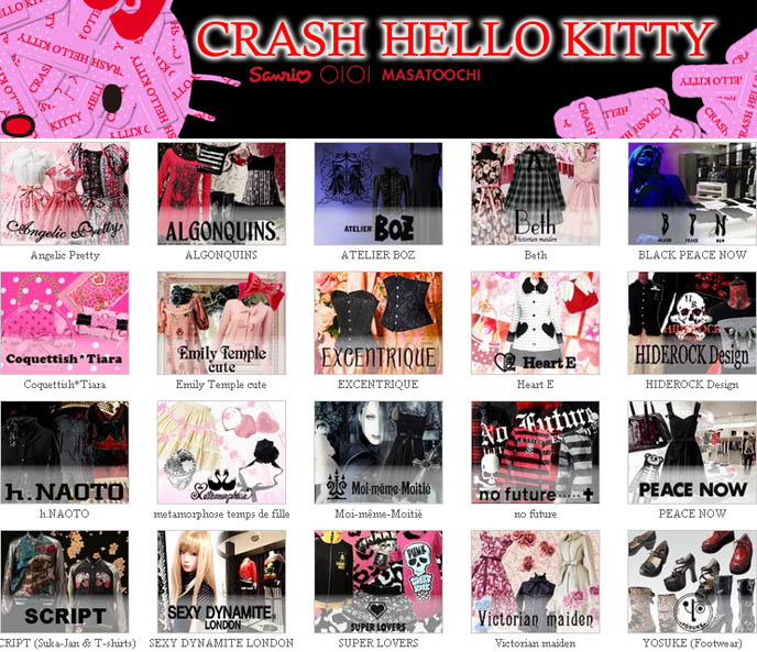 Marui One Shinjuku re-opening of department store, Crash Hello Kitty clothing line.