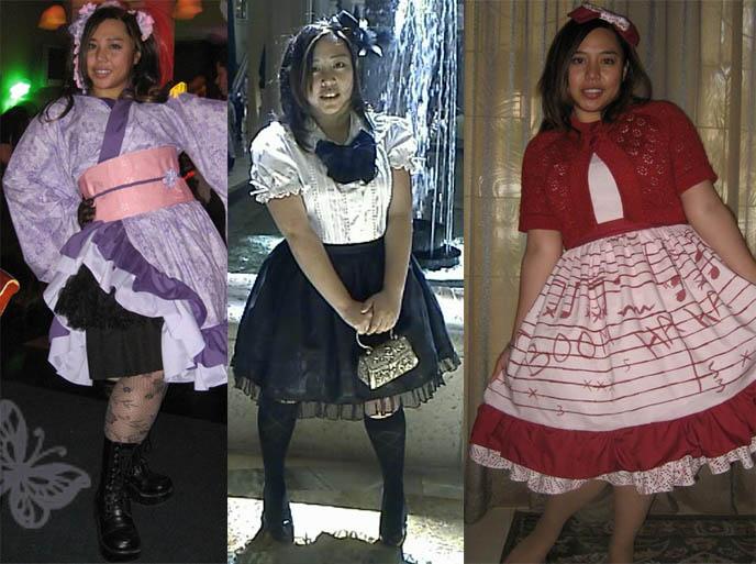 Los Angeles Lolita, Gothic Lolita girl in Japanese cosplay dress, Harajuku clothing.