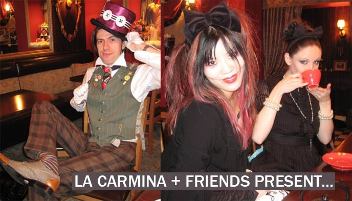 mad tea party, unbirthday song, alice in wonderland, goth alice, British dapper Victorian englishman, cute gothic girls.