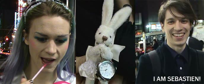alice in wonderland goth, cross-dressing, halloween costume, goth boys, cute emo hair makeup male, YUKIRO'S DEBUT PERFORMANCE AT TOKYO GOTH CLUB, MIDNIGHT MESS! SEILEEN, DJ SELIA & SISEN BAND, japan gothic nightclubs events, kawaii nails, fake nails cute face, decora kawaii girls, cyber fetish fashion makeup, ebm industrial music