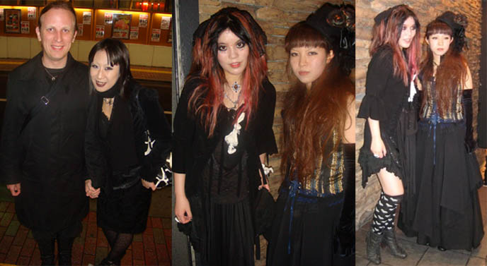 Cute pretty Lolitas, Japanese Goth fashion and club night, EGL elegant gothic aristocrat, Japanese hair straightening and facial whitening.