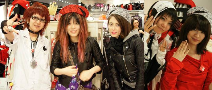 Japanese nurse cosplay outfit, guro lolita, Blablahospital London Japan punk designer at Kera Shop Arena in Marui One department store, Shinjuku.