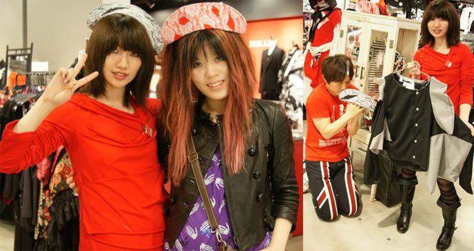 Decora and nurse outfits, cosplay, Harajuku style clothing, fashion at MaruiOne or Marui Young department store in Shinjuku, Tokyo Japan.