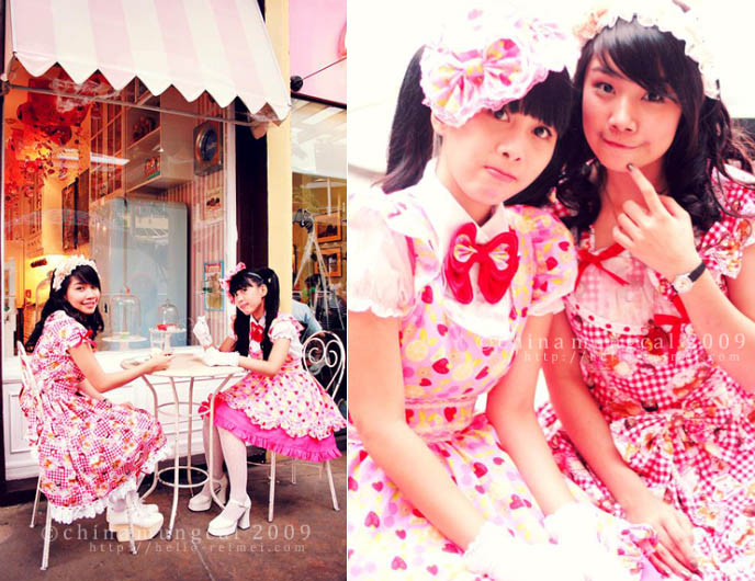sweet lolita girls, pink dresses, Bodyline, Angelic Pretty, BTSSB, metamorphose temps de fille.