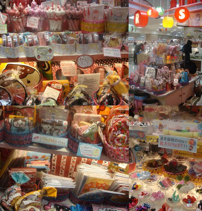 Japanese stationery store, cute Sanrio goods, Hello Kitty Swimmer, Japan graphic design, kawaii art.