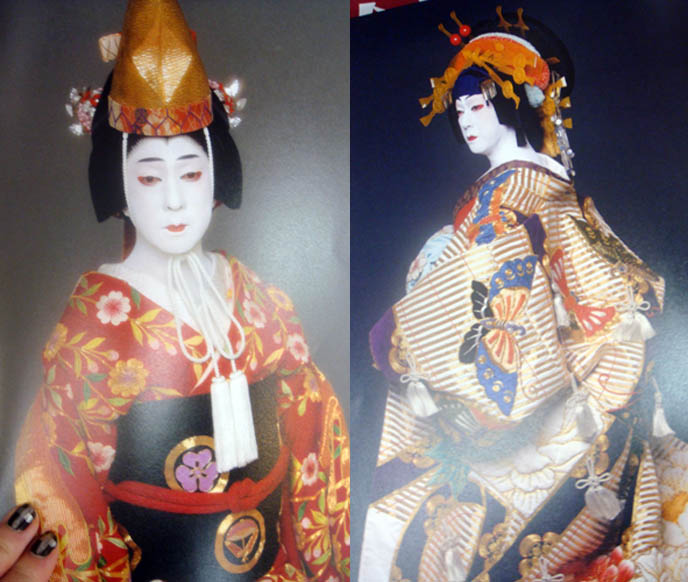 Tokyo kabuki plays, Japanese theater, onnagata female impersonator on stage plays, Bando Tamasaburo. Beautiful kabuki and noh costumes, makeup.