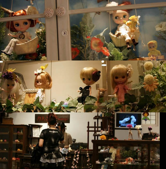 Rare, collectors items, Blythe and kewpie dolls in Japan, ball jointed dolls, bjd, shop for kawaii toys and dollfies at Tokyo shopping center Marui One 0101, department store window display Shinjuku boutiques.