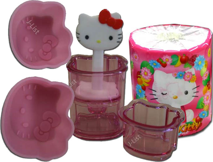 Hello Kitty bento equipment and accessories, rice molds, egg shapers, cute Hello Kitty toilet paper, food stamper