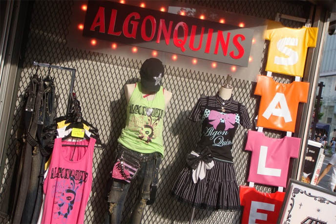 Algonquins gothic lolita punk clothing brand, Japanese goth clothing, young women's alternative street fashion, Fruits magazine, inspiration Harajuku clothes, where to shop in Tokyo