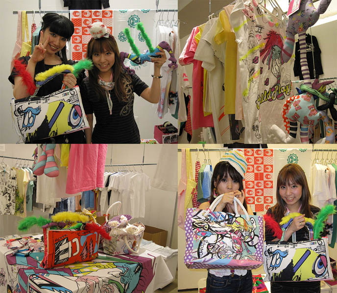 Tokyomade market, Japanese indie crafts, young designer streetwear clothing in Tokyo, best places to shop in Shibuya. Special event, neon t-shirts, live painting in Tokyo Japan. Cute Japanese girls, graphic art toys and kawaii gifts.