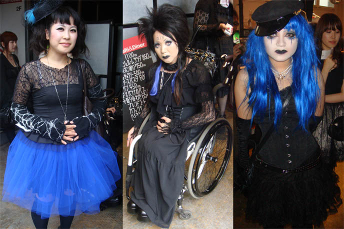 Mana cosplayers, Malice Mizer band outfits, cosplay Mana fans in Japan, Moi dix Mois and Kozi Deep Sanctuary tour, July 2009 Visual Kei concert at Ebisu Liquidroom Tokyo. Handicapped access, wheelchairs at Tokyo events. mana sama of Malice Mizer, Dix Inferno, how to buy J-rock show ticket.