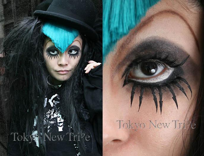 anime eyes makeup. anime contact lenses,