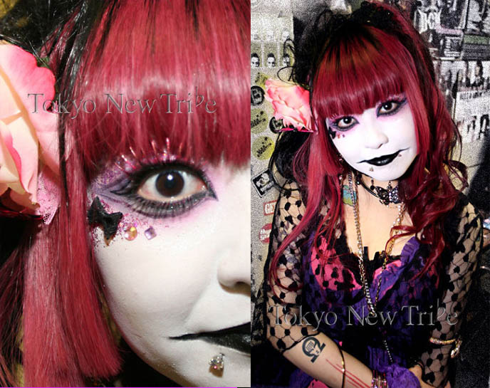 goth makeup tutorial. Visual Kei makeup tutorial,