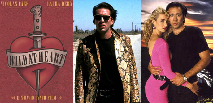 Wild at Heart movie by David Lynch, Sailor and Peanut starring Nicholas Cage and Laura Dern