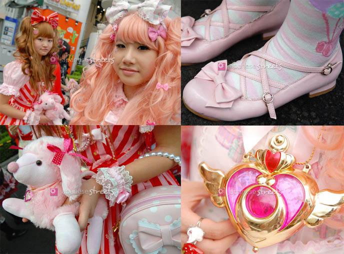 Japanese Streets, teenage Lolitas, Japan cute teen schoolgirls, Tokyo Harajuku fashion, Sweet Lolita, angelic pretty, Milk, young Japanese schoolgirls, pink hair decora, 6% doki doki