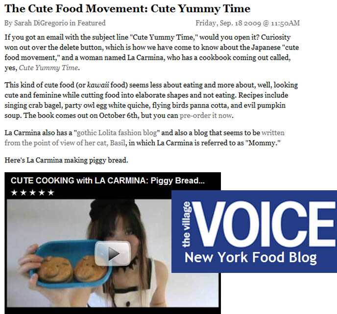 cute food movement, cute yummy time, la carmina, piggy bread video, Japanese bento box decoration, Face Food, mark batty publisher, kawaii bentos, recipes for adorable lunch boxes kid's creative eats
