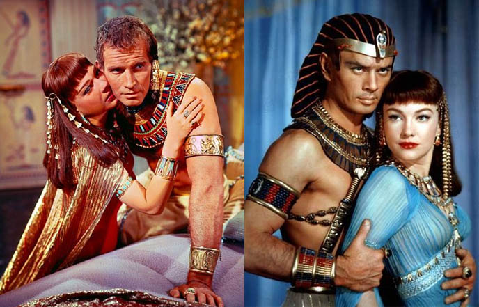 The ten commandments, Anne Baxter, Yul brynner, film stills, Charlton heston old photos, Cecil B DeMille, best movie epics of all time, ancient egypt moses movie
