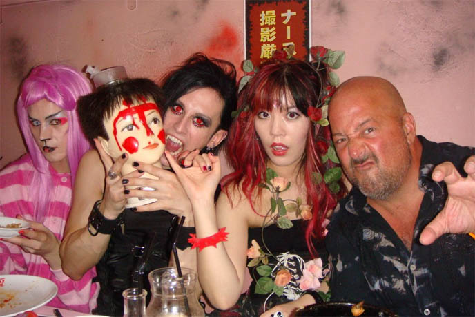 Andrew Zimmern Bizarre World, Travel Channel Tokyo TV episode, Bizarre Foods television filming, Alcatraz ER theme restaurant, La Carmina author Cute Yummy Time, crazy Harajuku fashion visual kei vampire goth cyber, fashion tribes streets Japanese, behind the scenes, special extra footage, bloopers, Crazy Wacky Theme Restaurants Japan book