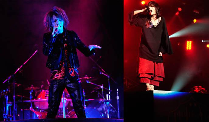Alice Nine and Plastic Tree, J-rock bands performing live at V-rock Visual Kei festival, Tokyo Japan. MOI DIX MOIS, MARILYN MANSON, ALI PROJECT, PLASTIC TREE, THE GAZETTE, Chiba, D'espairs Ray, heidi., Vidoll, SuG, ALI PROJECT, TSUCHIYA ANNA