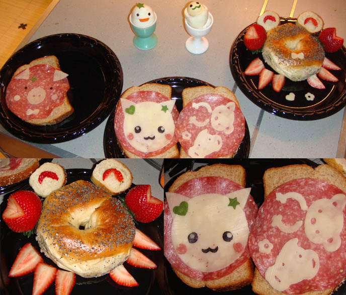 cute Japanese bento boxes, animal face sandwiches, Hello Kitty cat characters on bread ham cheese, TODAY SHOW TV APPEARANCE, 30 ROCK, INSIDE NBC STUDIOS IN NYC, LIVE cute food FOOD DEMO ON NEWS TALK SHOW. Cute Yummy Time, bento New York Times article, charaben lunch in box obento Matt Lauer, Meredith Vieira, Ann Curry, Al Roker, Natalie Morales, cookbook author guest on famous News show, weekend today in ny