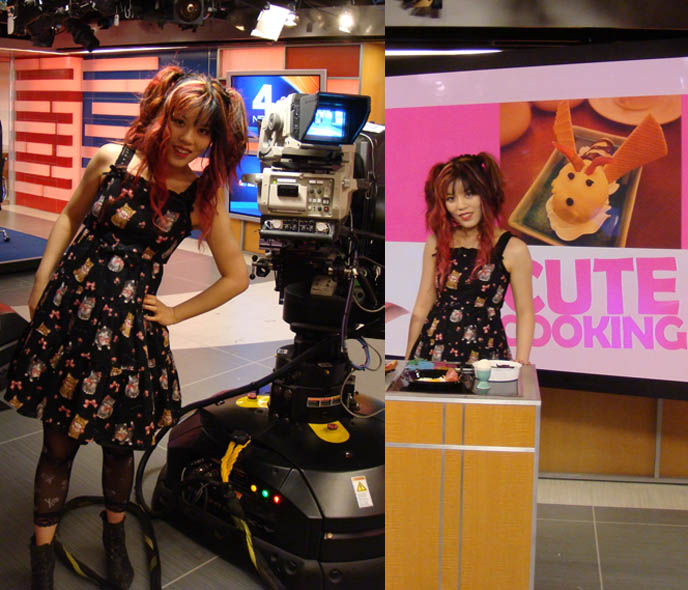 Erika Tarantal tv news anchor with La Carmina on TODAY SHOW TV appearance and guest on talk show, in NBC studios, 30 ROCK, behind scenes of NBC building and STUDIOS IN NYC, LIVE cute food FOOD DEMO ON NEWS TALK SHOW. Cute Yummy Time, bento New York Times article, charaben lunch in box obento Matt Lauer, Meredith Vieira, Ann Curry, Al Roker, Natalie Morales, cookbook author guest on famous News show, weekend today in ny