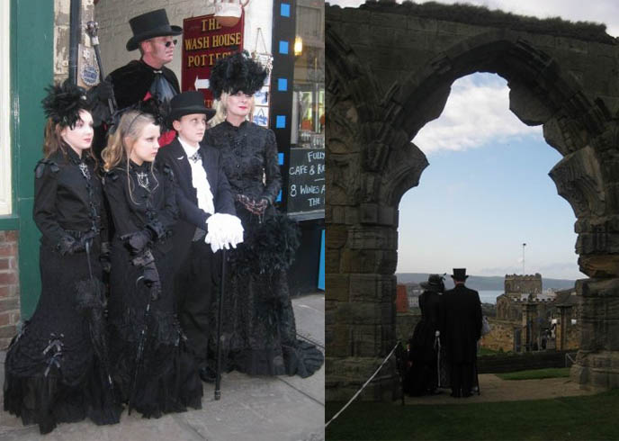 whitby gothic weekend, uk goth events, europe goth festivals, whitby goth fashion, london goth music festival