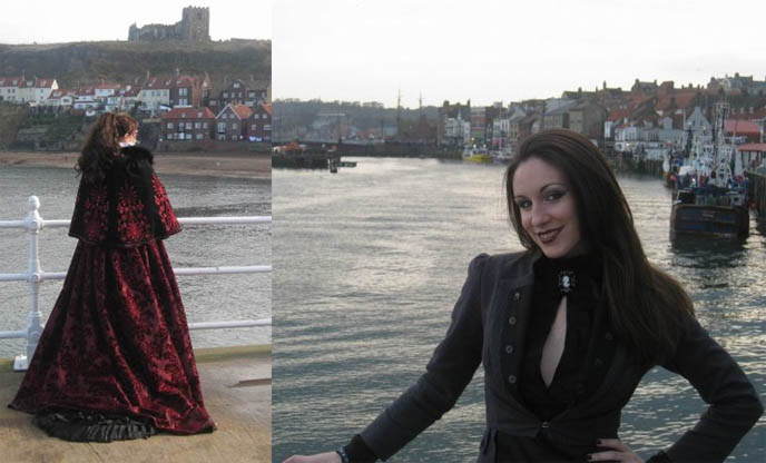 beautiful gothic girl model, goths in hot weather, black goth coat and jacket for women, WHITBY GOTHIC WEEKEND 2009: PRETTY GOTH GIRL PHOTOS, VICTORIAN MOURNING CLOTHING, STEAMPUNK & FETISH FASHION AT UK FESTIVAL, British meetup of gothic lolitas.