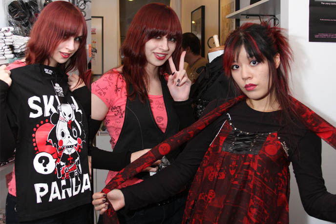 new york boutique that sells Japanese Gothic and Lolita brand clothes, such as Angelic Pretty, Sex Punk Revenge, Algonquins, Atelier Pierrot NYC GOTH CLUBS & CLOTHING STORES. NEW YORK GOTHIC INDUSTRIAL FETISH PARTIES. ALTERNATIVE NIGHTLIFE EVENTS & BARS MANHATTAN, dances of vice, tokyo rebel, jrock concerts nyc.