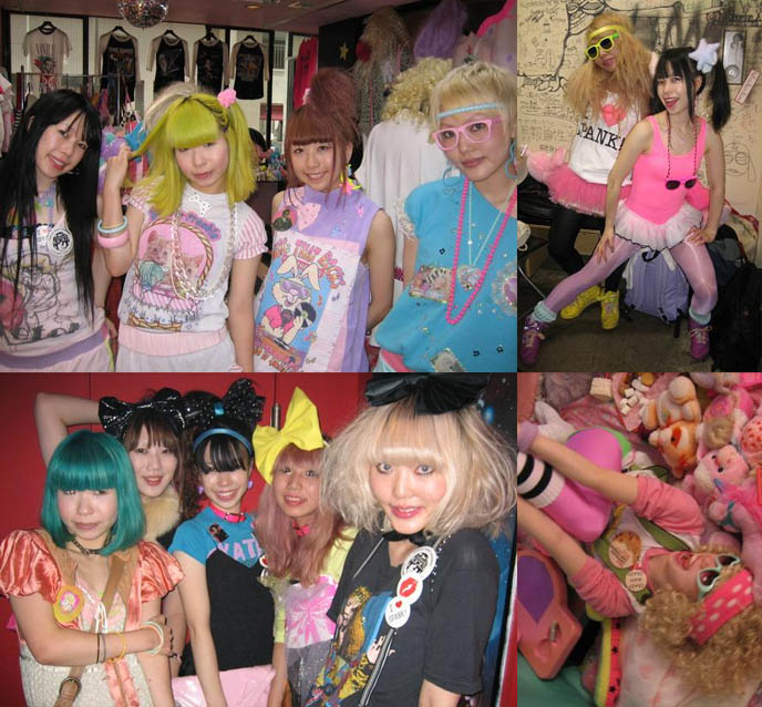 SPANK! FAIRY KEI FASHION PARTIES. COOL 1980S USED CLOTHING & HANDMADE CLOTHING BOUTIQUE IN TOKYO, BRIGHT COLORED HAIR JAPANESE GIRLS. cute young japanese girls, emo scene style in Tokyo, big bows on head, Kera magazine, Vivi, Japanese magazine scans online, used clothes Shibuya, shopping for secondhand clothes in Tokyo Japan