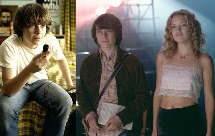 ALMOST FAMOUS: CAMERON CROWE, PATRICK FUGIT, KATE HUDSON AS BAND GROUPIE. film stills from movie, almost famous band-aids, group photo stillwater and groupie girls, 1960s groupies, pamela des barres, i'm with the band, led zeppelin tribute, lester bangs creem magazine