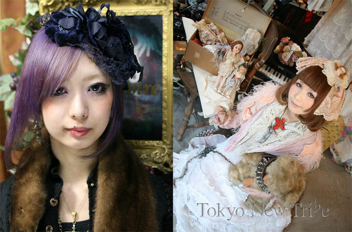 JAPANESE DOLLY FASHION: VINTAGE ANTIQUE DOLL LAYERED STREET STYLE, SHIBUYA BOUTIQUE GRIMOIRE. TOKYO STYLE TRIBES. middle ages Europe, medieval cosplay fashion, historic clothes, vintage in Japan and Asia, Handmade clothes delicate workmanship, mori girl, forest girl fashion Japan, Kera magazine, Vivi, Japanese magazine scans online, used clothes Shibuya, shopping for secondhand clothes in Tokyo Japan
