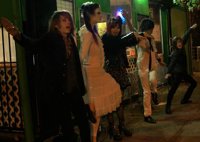 DAS BUNKER: GOTH INDUSTRIAL DANCE CLUB, LOS ANGELES CATCH ONE NIGHTCLUB. JAPANESE GOTHIC CLUB FASHION. pretty visual kei boys, makeup cyber goth girls, emo pretty boys, cute teen emo boys, electronic noise music concerts nightlife in LA, california goth, la goth, VNV Nation, Combichrist and Nitzer Ebb