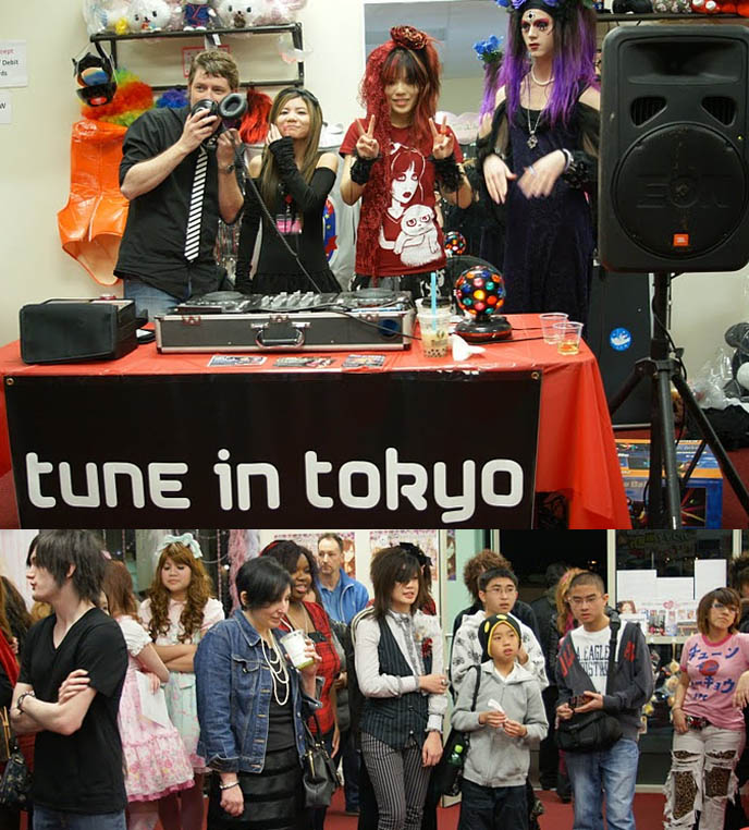 TUNE IN TOKYO LOS ANGELES JPOP PARTY PHOTOS: COSPLAY, JROCK, PURIKURA, ANIME EVENT HOSTED BY LA CARMINA. Gothic lolita meetups, club nights japanese music, kpop, la anime manga, PRETTY VISUAL KEI BOYS, harajuku fashion street style snaps, gothloli hair, sweet lolita dresses, teen emo boys, cute pretty teenage boy, emo kids, emo male hairstyles, visual kei hair and makeup, big goth hairdos for men, asymmetrical cool emo goth haircuts, japanese mullet, gothic lolita clothing wholesale, japanese clothes for sale