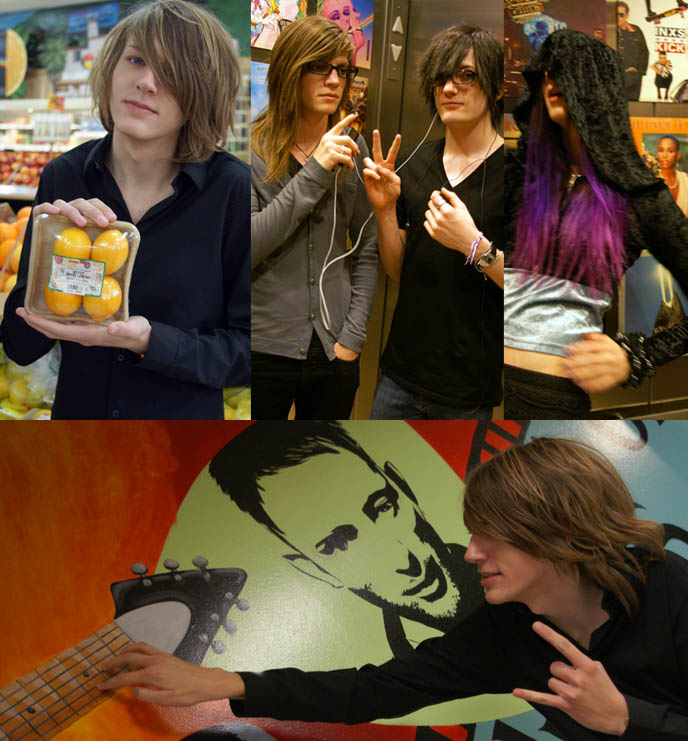 boys holding citrus fruits, best trader joes grocery products, laurel canyon sunset boulevard trader joes, organic natural groceries in los angeles, la trader joe best products, cheap wines, two buck chuck, cute emo boys, emo band