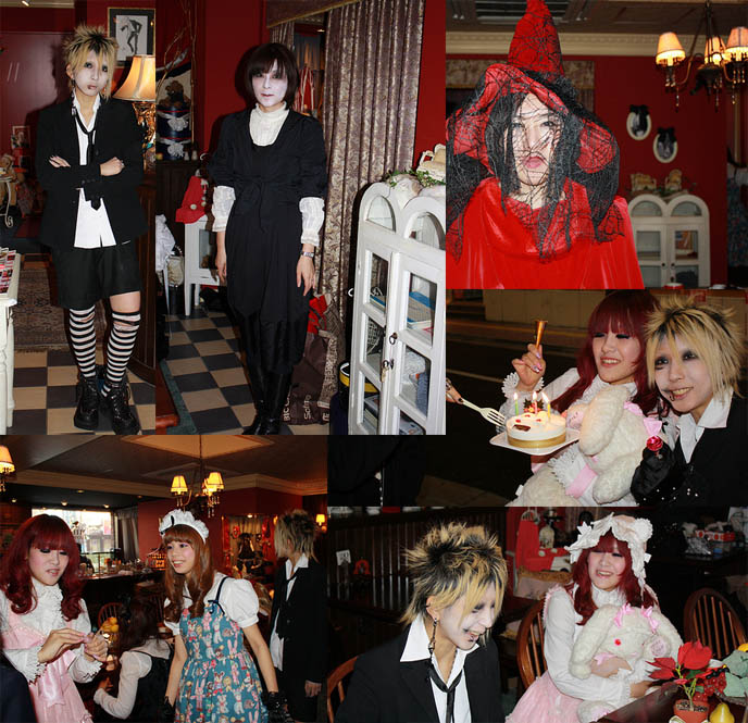 japanese alice in wonderland cafe, theme restaurant, HORROR HIGH SCHOOL: JAPANESE INDEPENDENT COMEDY-HORROR TEEN MOVIE. VISUAL KEI, GOTHIC LOLITA FILM. PLASTICGOD JROCK ART. goth movie, asia extreme horror films, behind scenes filming movies, halloween scary makeup, japanese undead schoolgirl, ghosts goblins costume