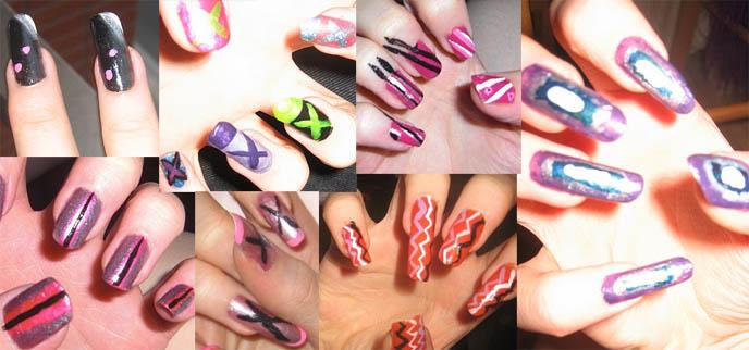 JAPANESE NAIL ART PICTURES. HARAJUKU  NAIL POLISH TECHNIQUES, MANICURE SUPPLIES DESIGNS & IDEAS, DIY TUTORIAL. shibuya gals nails, tokyo fashion, coolest nail art design, creative japanese nails, fake nails, unique manicures, beginners tips, acrylic nails salon