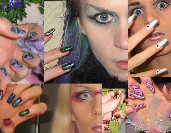 JAPANESE NAIL ART PICTURES. HARAJUKU  NAIL POLISH TECHNIQUES, MANICURE SUPPLIES DESIGNS & IDEAS, DIY TUTORIAL. crazy mineral makeup blending, shibuya gals nails, tokyo fashion, coolest nail art design, creative japanese nails, fake nails, unique manicures, beginners tips, acrylic nails salon