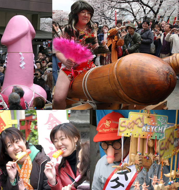Japan penis festival, Tagata Jinja Hounen Matsuri - Japanese fertility festival  The Kanamara Matsuri, festival of the Steel Phallus かなまら祭り, strangest festivals, phallic parade, weird Japan, Kawasaki Big Metal Phallus, photos of Japanese girls at penis dick event