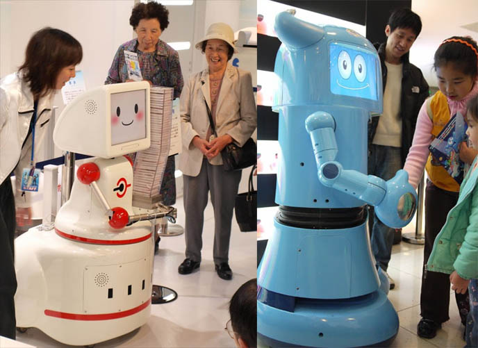 KAWAII CUTE JAPANESE ROBOTS FOR HOUSEHOLD. domestic robots, robot shop, cleaning vacuuming does laundry robot, cute toy robots, japan inventions robotics, humanoids, androids, mr roboto, cute face robot chefs, futuristic android