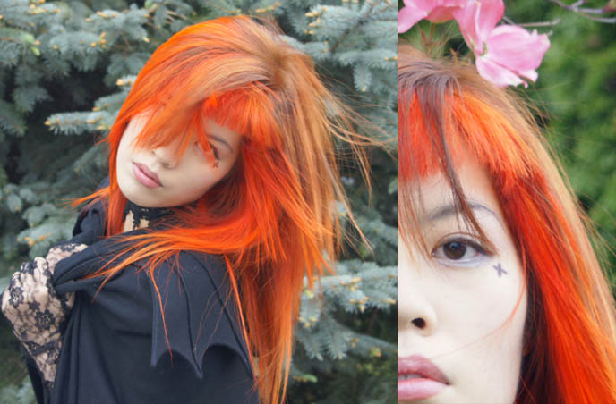 NEW ORANGE HAIR! SPECIAL EFFECTS BRIGHT ORANGE COLORFUL