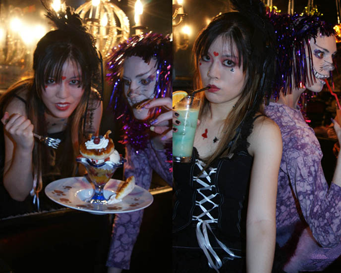 ALICE IN WONDERLAND CAFE IN TOKYO. JAPANESE AMAZING THEME RESTAURANTS, CHESHIRE CAT, CUTE FOOD FROM DIAMOND DINING. JAPANESE MAID CAFES, CUTE GIRL ASIANs, hot japanese GIRLS, dating, anime manga jpop cosplay Japan, world's weirdest strangest restaurants
