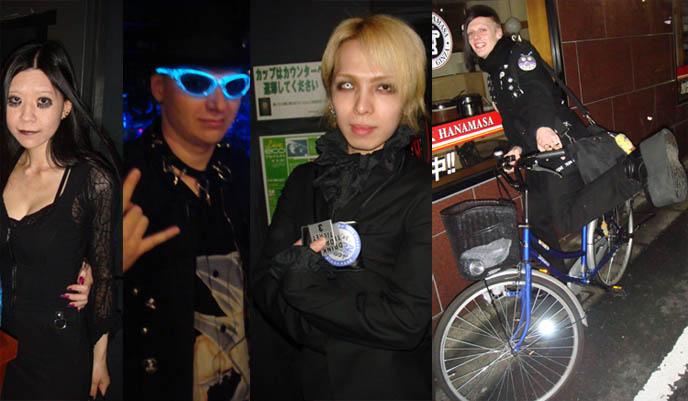 japanese gay alternative scene, punk goths, harajuku crazy weird fashion, TOKYO GOTH INDUSTRIAL PARTY: CEVIN KEY OF SKINNY PUPPY, ANTI-FEMINISM, PSYDOLL, MISTRESS MAYA, LUKE OF CHAOS ROYALE.