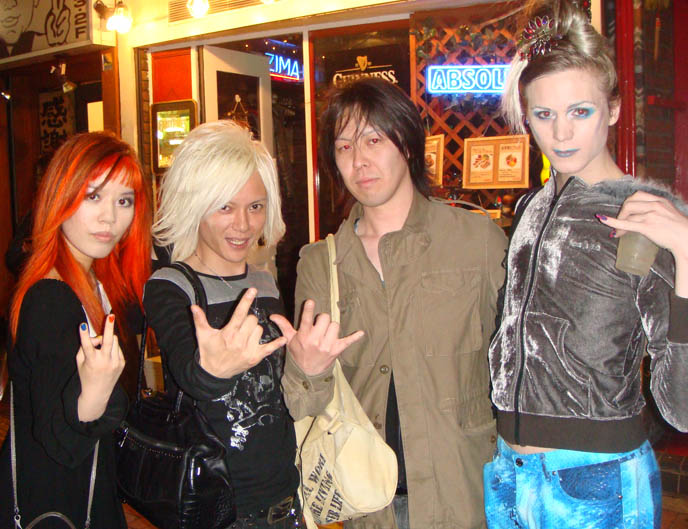anti-feminism visual kei band, jrock group antifeminism, visual kei cafes, star cafe in shinjuku, midnight mess, japanese gay goths, TOKYO GOTH INDUSTRIAL PARTY: CEVIN KEY OF SKINNY PUPPY, ANTI-FEMINISM, PSYDOLL, MISTRESS MAYA, LUKE OF CHAOS ROYALE.