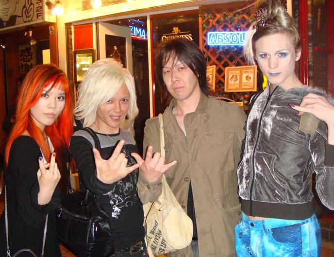anti-feminism visual kei band, jrock group antifeminism, visual kei cafes, star cafe in shinjuku, midnight mess, japanese gay goths, TOKYO GOTH INDUSTRIAL PARTY: CEVIN KEY OF SKINNY PUPPY, ANTI-FEMINISM, PSYDOLL, MISTRESS MAYA, LUKE OF CHAOS ROYALE.
