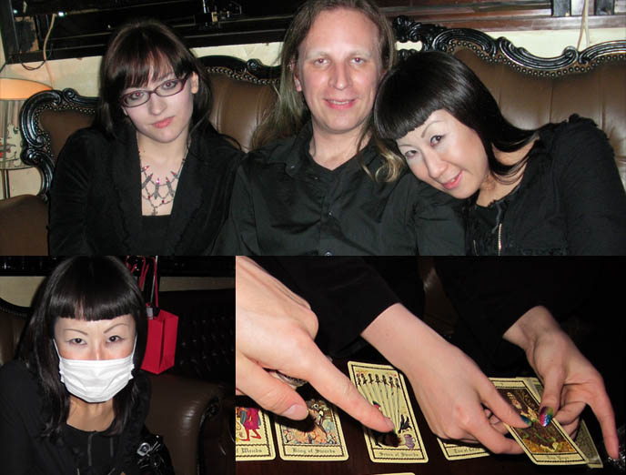 tarot card readings, japan girl with face mask, TOKYO ABSINTHE: BAR TRAM IN EBISU. WHERE TO FIND JAPANESE ABSINTHE, LEGAL LIQUOR IN JAPAN. goth clubs and bars in tokyo, transsexual bars and parties, gothic harajuku style hair makeup